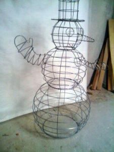 Габион-снеговик